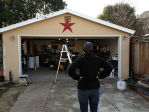 Our new barn star above the brewery.