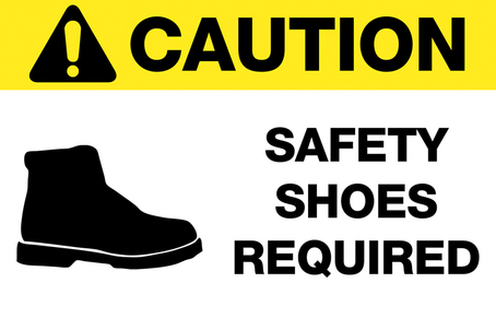 Caution Safety Shoes