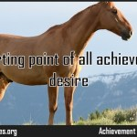 The starting point of all achievement is desire Quote