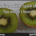 You're only given a little spark of madness Quote by Robin Williams