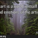 A work of art is a world in itself reflecting senses and emotions of the artists