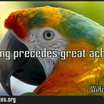 Big thinking precedes great achievement