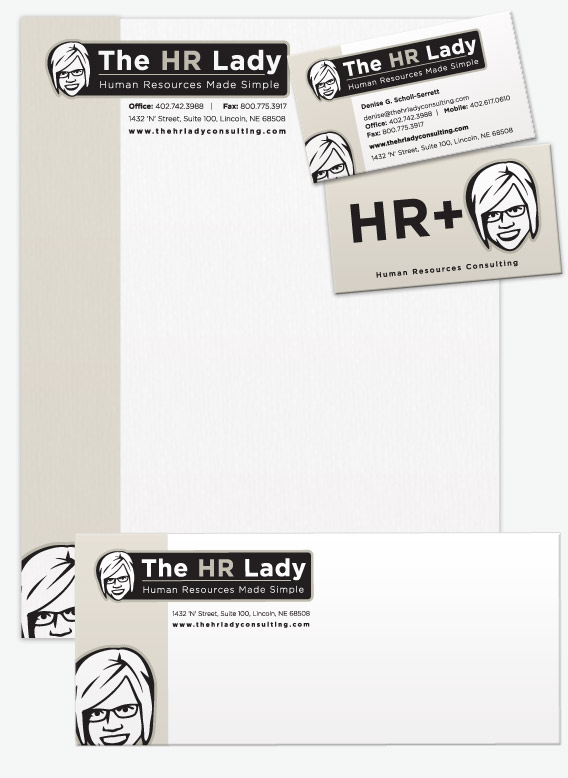 The HR Lady Identity Pieces.