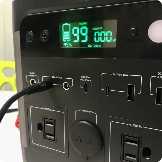 ポータブル電源のDC出力は何に使うの?車内にLEDテープを設置できます