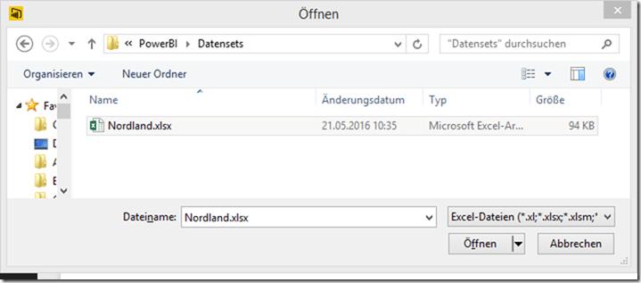PBI Desktop - Excelimportdialog