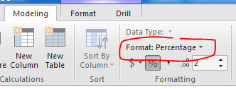 Format Change to Percentage