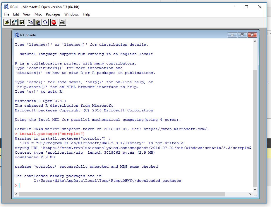 Install corrplot Function