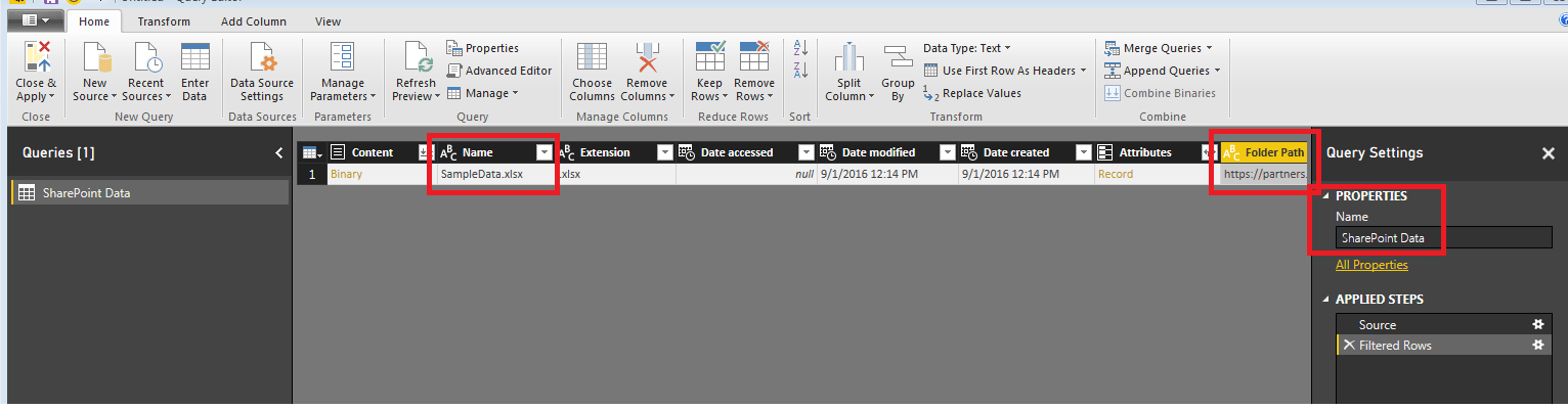 Query Editor View