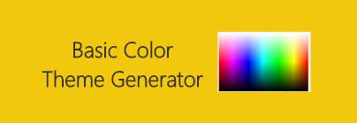Basic Color Theme Generator
