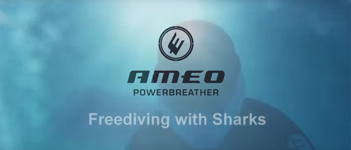 Ameo POWERBREATHER Freediving with sharks