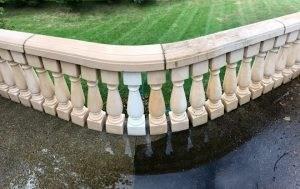 Concrete Patio Cleaning Power Clean   Railing For Concrete Patio   Wood   Vinyl   Custom   Rectangle Concrete   Deck