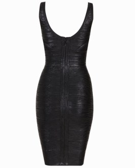Sleeveless Metallic Rayon Quality Women's Bodycon Dress