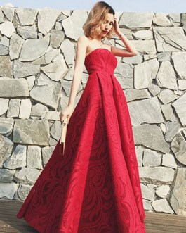 Strapless Floor Length Party Dress With Detachable Shawl