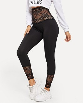 Women Stretchy Trousers Basic Active Wear Leggings