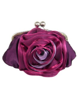 Wedding Clutch Rose Flower Clasp Lock Evening Handbags