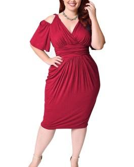 Women plus size vestidos bodycon Sexy midi dress party dress