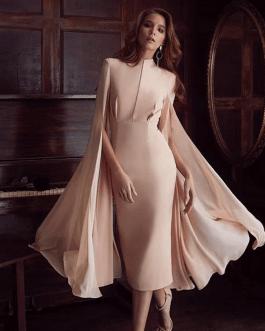 Women Sexy Bodycon Dress Batwing Sleeve Party Club Dress