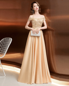 Women off the shoulder sexy embroidery fashion party dress
