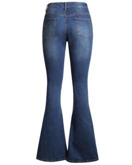 Flared Leg Jeans Bell Bottom Denim Pants