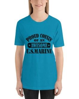 Proud cousin of US Marine Short Sleeve t-shirt