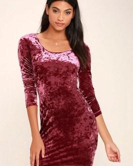 Velvet Jewel Slim Fit Short Bodycon Dress