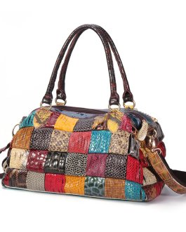 Bohemian Large Capacity Genuine Leather Handbags