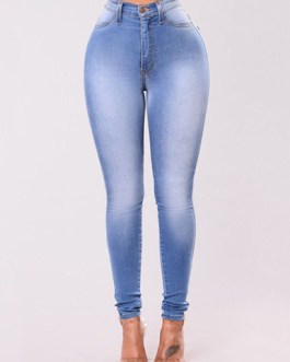 Women High Waist Denim Skinny Jean Pants