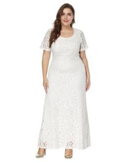 Elegant plus size evening party maxi long Dress