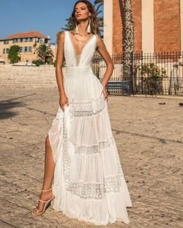 Lace Hollow Out Bohemian Long Loose Dress