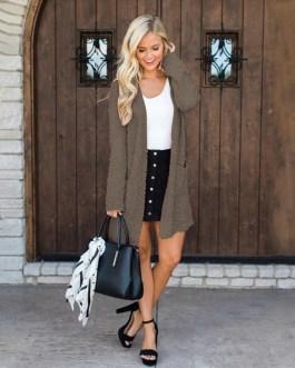 Street Wear Casual Long Sleeve Cardigans