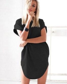 Short Sleeve Oversized Longline Hoodie