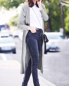 Street Wear Long Sleeve Casual Cardigans Oversized