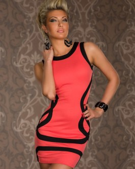 Crewneck Color Block Slim Fit Club Dress