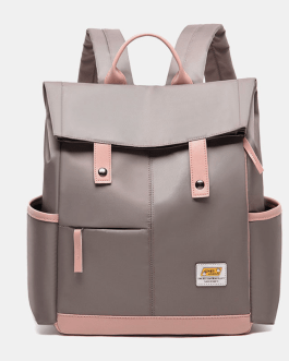 Canvas Multifunction Waterproof Casual Patchwork Backpack