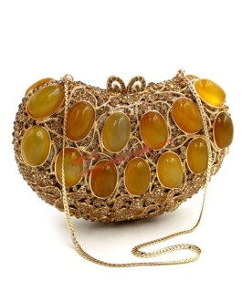 Agate Gems Diamonds Evening Hand Bags