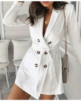 Elegant Office Lady Bow Long Trench Coat