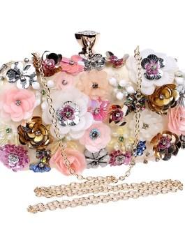 Embroidery Floral Flower Handbag