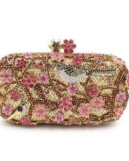 Luxury Crystal Diamond Flowers Hand Bag