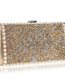 Metal Diamonds Beading Party Wallets
