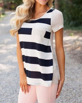 Striped Loose Fitting Tee Shirt