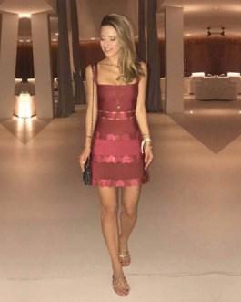 Celebrity Bodycon Patchwork Bandage Mini Dress