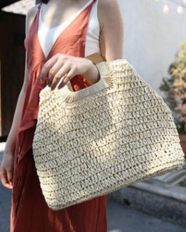 Large Capacity Ladies Hot Straw Beach Handbags