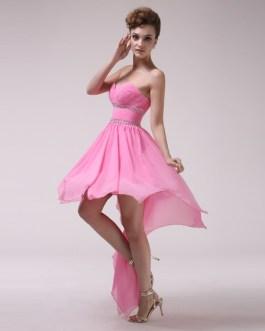 A-line Sweetheart Ruched Chiffon Bridesmaid Dress