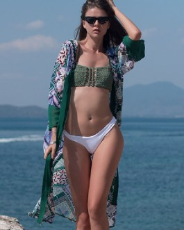 Sexy Chiffon Geometric Bathing Suits Cover Ups