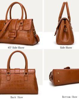 Crocodile Pattern Shoulder Leather Handbags