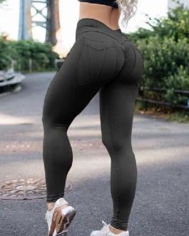 Gym Leggings Natural Waist Elastic Workout Leggings