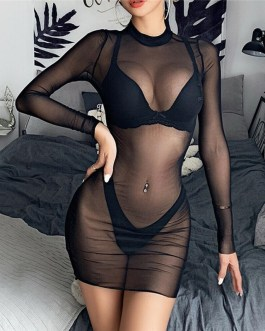 Sexy Long Sleeve Bikini Cover Up Swimsuit