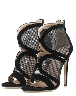 Stiletto Heel Open Toe Sandals Nets Clothes Chic Women's Shoes