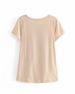 Boho chic animal print Short sleeve Cotton T-Shirt