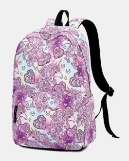 Large Capacity Print Waterproof Backpack